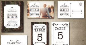 pack tarjetas rusticos para casamiento